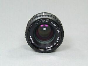 NIKON EL-NIKKOR 50mm 1:2.8 ENLARGER LENS SUPERB - VINTAGE PHOTOGRAPHY EQUIPMENT