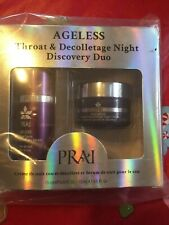 PRAI AGELESS THROAT & Décolletage Night Duo. RECOVERY SERUM 0.5 OZ Each. 2 Total
