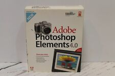 BIG BOX Adobe Photoshop Elements 4.0  Windows XP on CD, with Serial Number
