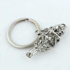 Key Ring Key Chain Gift Fashion Creative Alloy Rhinestone Metal Skeleton
