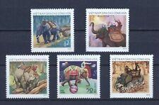 1974 North Vietnam Stamps Elephants Sc # 724 - 28 MNH
