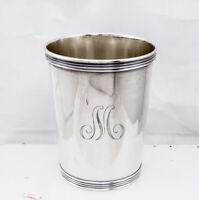"Vintage Manchester Solid Sterling Silver Derby Mint Julep Cup Monogrammed ""M"""