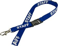 Blue Staff Lanyard with Swivel Clip ~ Lot of 20