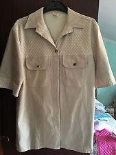 Camicia donna beige - Taglia M - 100% poliestere - Stile scamosciato