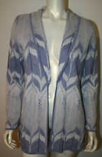 PENDLETON Blue White Linen Cotton Feather LS Cardigan Sweater NWT LP Country Rd