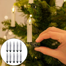 10 Wireless LED Flameless Christmas Tree Battery Candles Light Remote Control AU