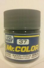 Mr Hobby/Mr Color acrylic paint C-37, Semi-Gloss RLM 75 Gray Violet.