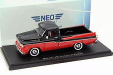 DODGE d100 sweptside pickup année 1959 noir/rouge 1:43 Neo