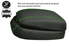 GREEN STITCH ARMREST LID & LOWER REAL LEATHER COVERS FITS HYUNDAI SONATA 02-05