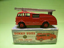 DINKY TOYS 555 FIRE ENGINE + EXTENDING LADDER - RARE SELTEN - GOOD COND. IN BOX
