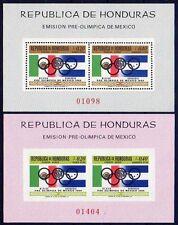 HONDURAS 1968 MEXICO OLYMPICS x2 S/S  MNH SC.#C435ab CV.$24.00 BEST OFFER AMIGO?