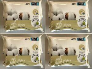 60 Blatt Feuchtes Toilettenpapier bella Nr. 1 Toilettenpapier 4-24er Pack