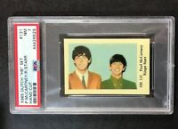 1965 Dutch Gum  HB SET #131 PAUL MCCARTNEY & RINGO STARR - PSA 7 NM
