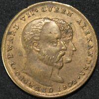 1902 | Edward VII & Queen Alexandra Token | Tokens | KM Coins