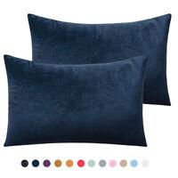 """Ultra Soft Pillow Cases Velvet Warm Pillowcases Set of 2 Pillow Cover 12""""x20"""""""