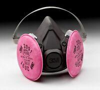 3M 6300 Half Facepiece Respirator W/ 3M 2091 P1OO Filter Cartridge, Size: LARGE
