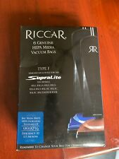 Riccar 6 Genuine Hepa Media Vacuum Bags Type F -Supralite-New