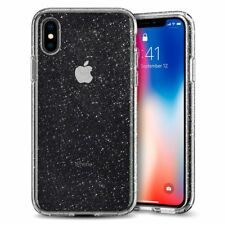 Custodia iPhone X  [Liquid Crystal Glitter] Cover in TPU + Brillantini Clear