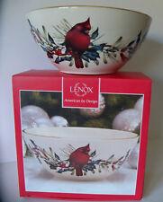 "Lenox Winter Greetings 7""  Bowl Red Cardinal Bird NEW w/ Original Box"