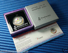 2010 Singapore Youth Olympic Games $5 1oz 999 Fine Silver Proof-Like Colour Coin