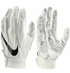 Nike Football Gloves Superbad 4.5 Adult Medium White Padded Magnigrip