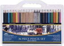Professional Pencil Set Water Color Graphite 36 Piece Art Free Shipping