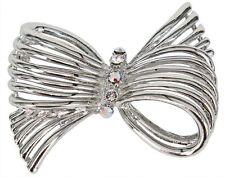 RUCINNI  Bow Brooch with Swarovski Crystal