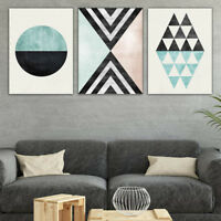 3pcs Nordic Geometric Abstract Canvas Painting Picture Home Wall Art Decor