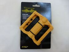 "New Pair - Yellow - GT Universal Nylon BMX Bike Pedal Set 9/16"" Chromoly Spindle"