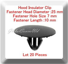 20 Pcs Hood Insulator Clip Head 25mm Hole Zise 7mm  Length 10mm For:Scion-Toyota