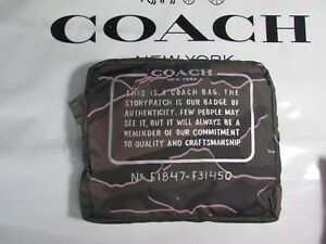 NWT Coach Wild Camo Packable Nylon Backpack F31450 Green or Burgundy