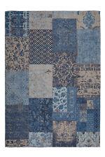 patchwork poil ras Tapis patchwork Tapis bac Jacquard Bleu 200x290cm