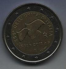 2 EURO MONETA COMMEMORATIVA 2011 dall'Italia 150 anni d'Italia