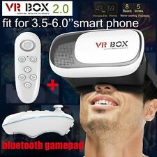 2017 VR BOX Headset Virtual Reality Glasses 3D Samsung: iPhone 5 6 7 Bluetooth