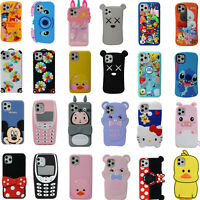 3D Cartoon Cover Case For iPhone 11 Pro Max 11 Pro 11 XS Max XR XS X 6 7 8 Plus