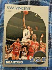 1990-91 NBA Hoops Sam Vincent with Michael Jordan # 12---RARE