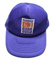 VTG 80s Phoenix Suns Universal Foam Mesh Trucker Snapback Hat Cap NBA (fraying)