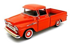 Motormax 1:24 Scale 1958 CHEVY APACHE FLEETSIDE PICKUP DIECAST Model Car Orange