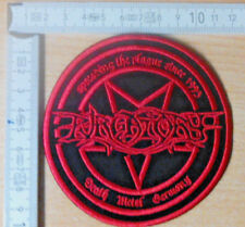 PURGATORY RARE Woven Round Patch death Cannibal Corpse Morbid Angel possessed