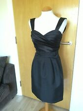 Ladies MAX AND CLEO Dress Size 8 Black Satin Party Evening Cocktail