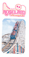 ROSELAND PARK ~ CANANDAIGUA, NEW YORK 2-SIDED COLOR FLYER FOR AMUSEMENT PARK