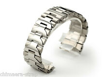 24mm Stainless Steel Solid Links Bracelet Watch Band Strap For PAM Luminor 44mm