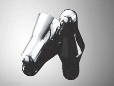 Paire de bouchons de valves BULLET CHROME