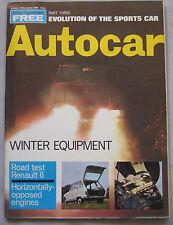 Autocar magazine November 20/11/1969 featuring Renault 6 road test