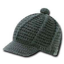 Gray Crochet Knit Reggae Rasta Kufi Winter Visor Jeep Beanie Cap Caps Hat Hats