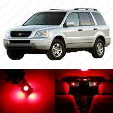 12 x Brilliant Red LED Lights Interior Package Deal For Honda PILOT 2003 - 2005