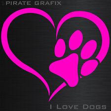 KFZ AUFKLEBER DECAL HUND LIEBE DOG KATZE HERZ LIEBHABER AUTO HEART PFOTE LOVE