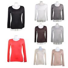 T-shirt / Sous pull femme en viscose manches longues