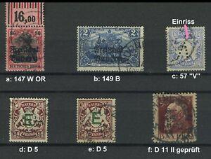 Bayern 57, 147 OR, 149 B, Dienst 5, 11 II (geprüft) gestempelt  #g751