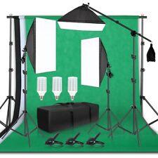 Photography Studio Backdrop Soft Box Led Lighting Umbrella Kit Fast Shipping Usa